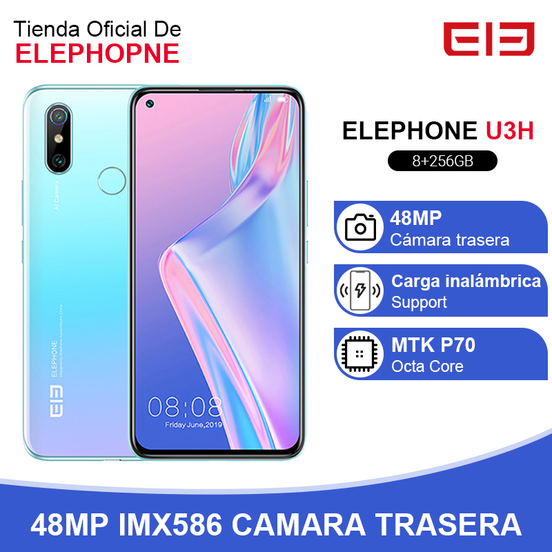 In Stock ELEPHONE U3H Smartphone 8GB 256GB Octa Core Helio P70 6.53 FHD+ 24MP Selfie 48MP Dual Camera Android 9 Mobile Phone image