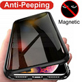 Противоударный Магнитный чехол для iPhone 11 Pro Max XS XR 8 7 Plus 6s 360, двухсторонняя защита для экрана, металлический бампер