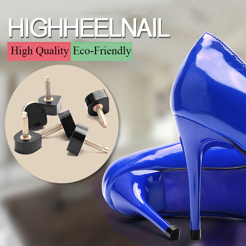 1Pair Silent Spike Women High Heel Shoes Repair Tips Replacement Lady Wear Resistant Stiletto Shoe High Heels Nails Repair Tips