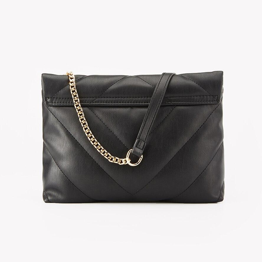 Купить стеганая женская сумка с металлической цепочкой твердой застежкой