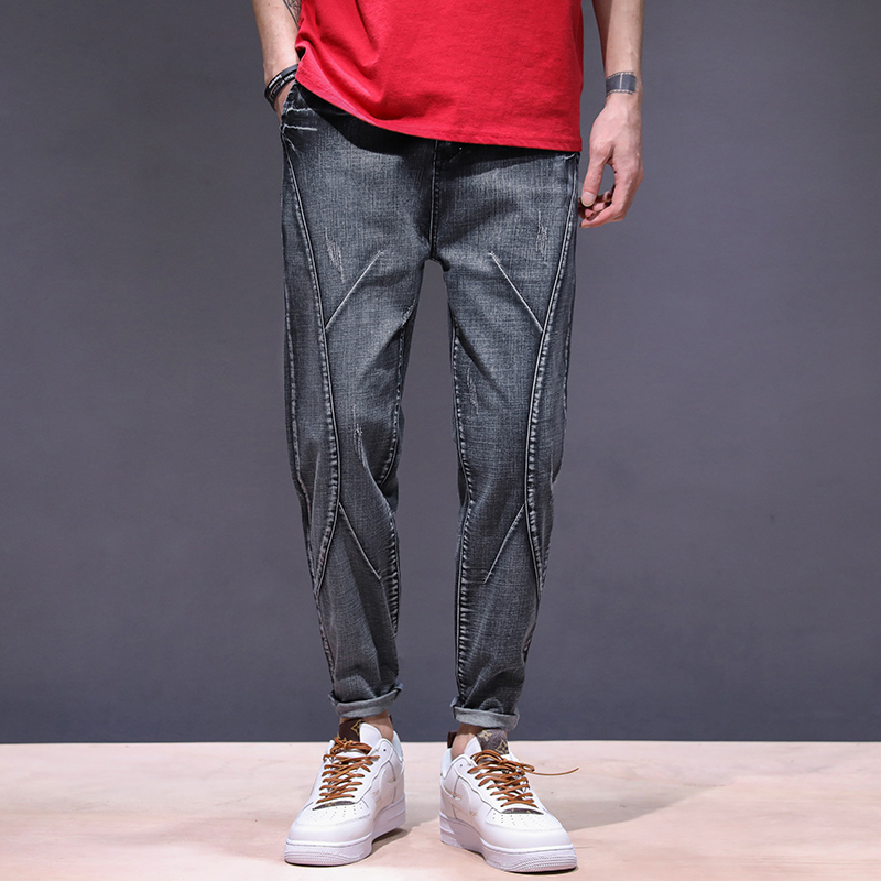 KSTUN haren jeans men motorcycle jeans streetwear drawstring elastic waist loose feet Pants outdoor leisure riding jeans joggers 11