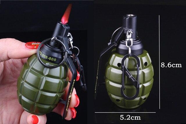 el bombasi sekli butan gaz ruzgar gecirmez cakmak yaratici duman bombasi cakmak cakmak puro atesleme askeri model oyuncak