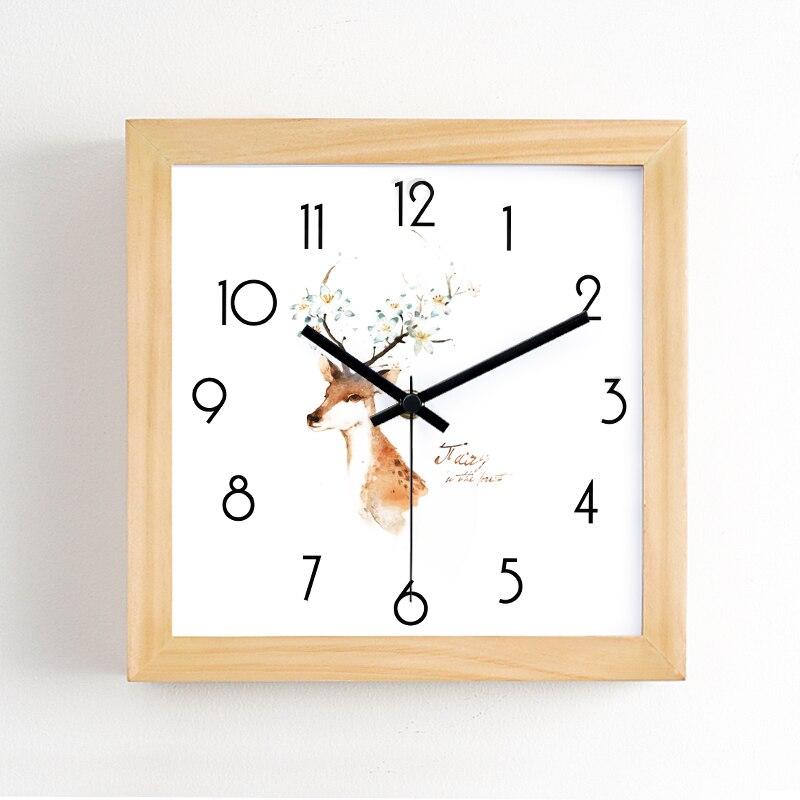Carré mur moderne Design horloge Simple nordique horloge murale salon minimaliste créatif élégant Wandklok décoration de la maison AA60ZB