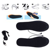 Shoes-Pads Heater Warm-Foot-Insoles Electric-Powered Women USB Winter 1-Pair Diy-Cut