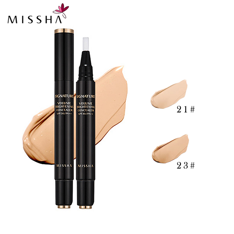 MISSHA Volume Brightening Eye Concealer(#21,#23)Face Concealer Pen, Easy To Carry Pen Concealer Korean Cosmetics