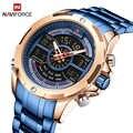 New Luxury Brand NAVIFORCE Mens Watches Fashion Waterproof Digital Sport Military Quartz Wrist watch Clock Men Relogio Masculino