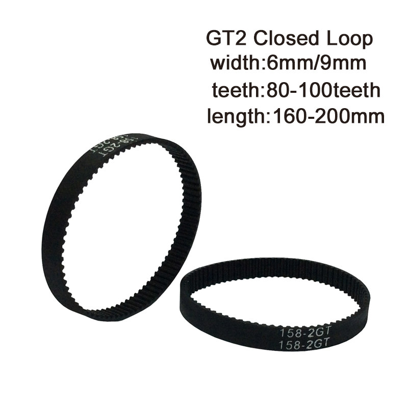 Color : 2GT 108, Size : 6mm 1pc 3D Printer Belt GT2 Closed Loop Rubber 2GT Timing 96 98 100 102 104 106 108 110 112 114 116 Length 96mm 98mm 116mm WYX-TONGBUDAI