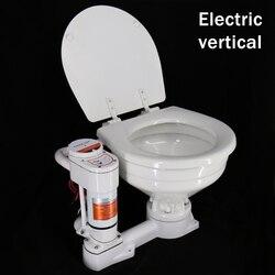 Морская яхта RV унитаз кемпинг автомобиля парусного судна, специальный ручной Электрический Туалет Бортовая Керамика Туалет 12V 24V