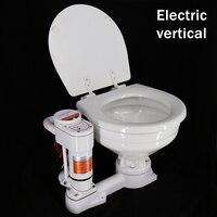 Iate marinho rv toalete sala de acampamento navio de vela do carro manual especial wc elétrico veículo carregado vaso sanitário cerâmico 12 v 24 v|Equip. marít.|Automóveis e motos -