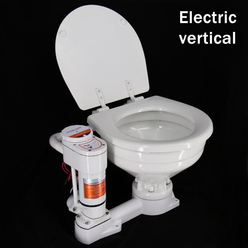 Marine Yacht RV Toilet Lounge Camping Car Sailing Vessel Special Manual Electric Toilet Vehicle-borne Ceramic Toilet 12V 24V