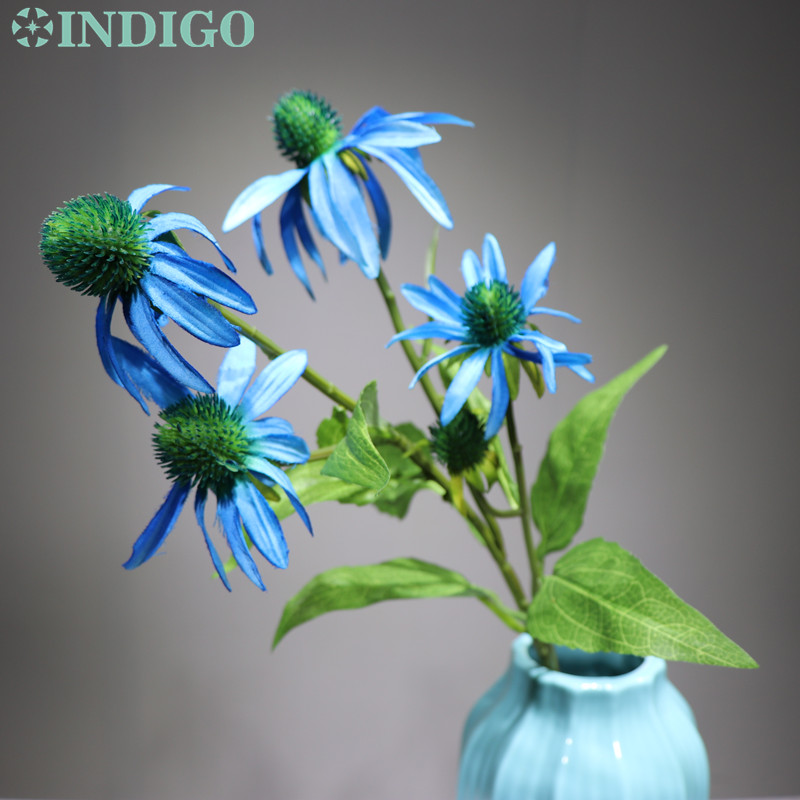 INDIGO Daisy Spray Flower Home Decoratitn Elegant Wedding Flower Artificial Flower Floral Even Party Flower Free Shipping in Artificial Dried Flowers from Home Garden