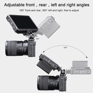 Image 3 - UUrig R015 Vlogger Monitor Mount Adapter Cold Shoe Ballhead Monitor Bracket Mic Holder Canon Nikon DSLR Camera Gimbal Accessory