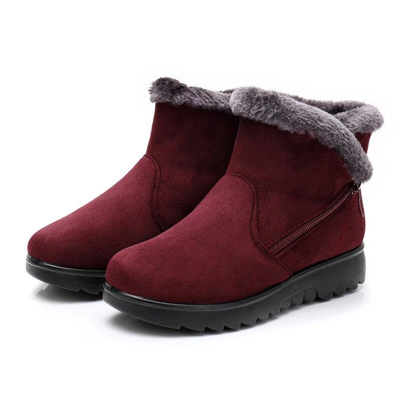 de nieve plataforma de talla grande zapatos de