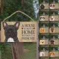 Бирки для собак прямоугольная деревянная бирка для домашних животных  аксессуары для собак  знак милых животных  рустикальные настенные ук...
