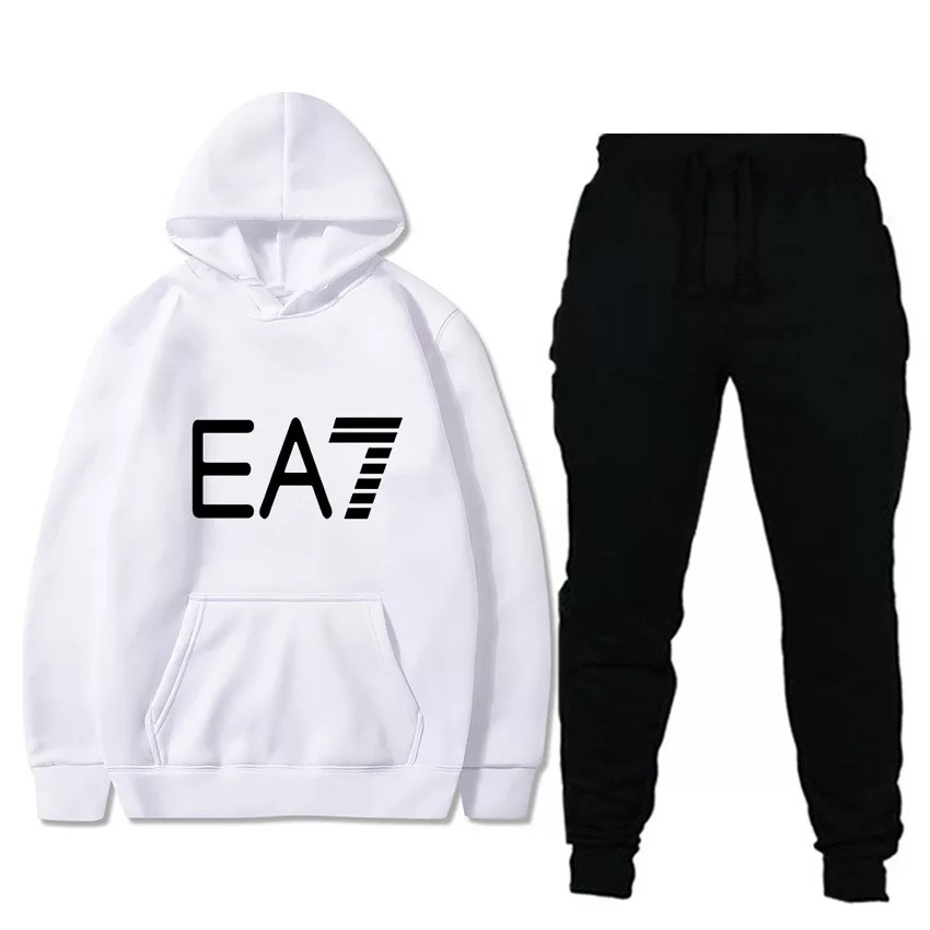 2019 Autumn New Style Men Leisure Set-Style Printed Sports Hoodie Gymnastic Pants