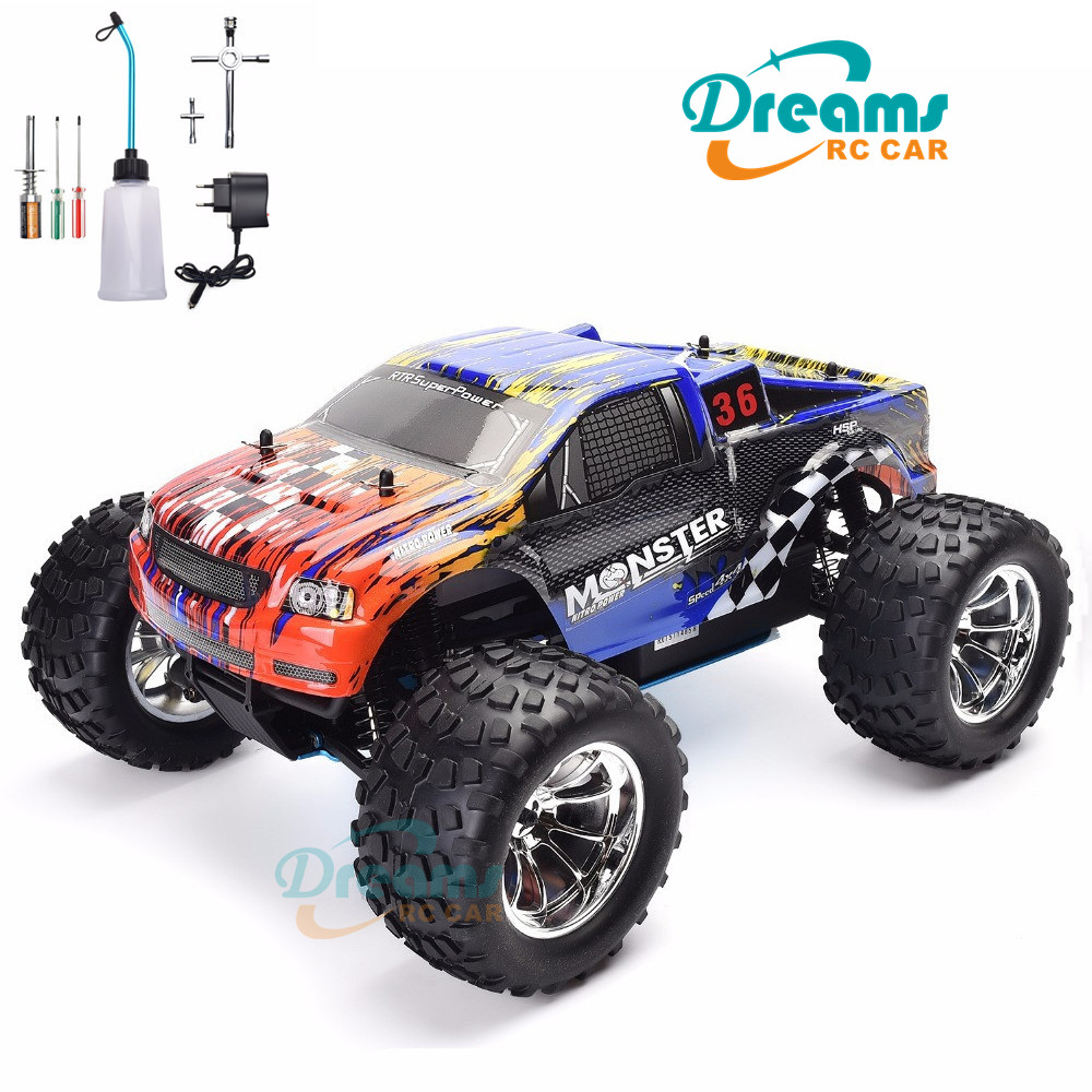 HSP RC Truck <font><b>1</b></font>:<font><b>10</b></font> Scale Nitro Gas Power Hobby Car Two Speed Off Road Monster Truck 94188 4wd High Speed Hobby Remote Control Car image
