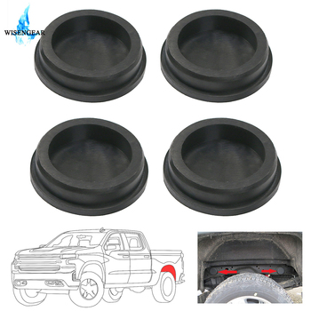 4Pcs Tube Frame Hole Plug Cover Rear Wheel Well Rubber Plugs Mud Tap Cap For Chevy Chevrolet Silverado Sierra 1500 1999-2018 image