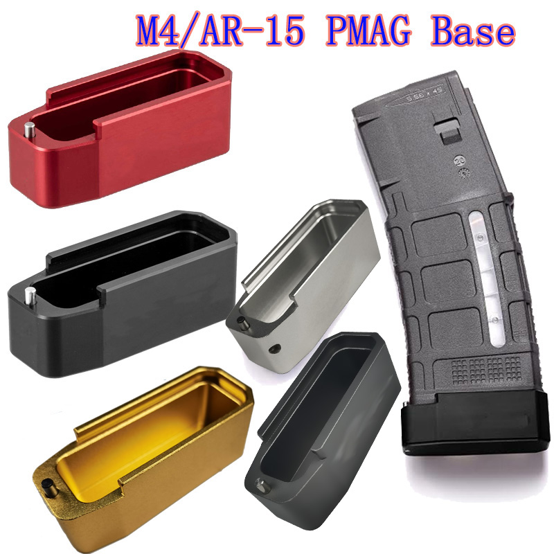 Magorui .223/5.56 Тактический PMAG Журнал Расширение M4/AR-15 PMAG база Pad