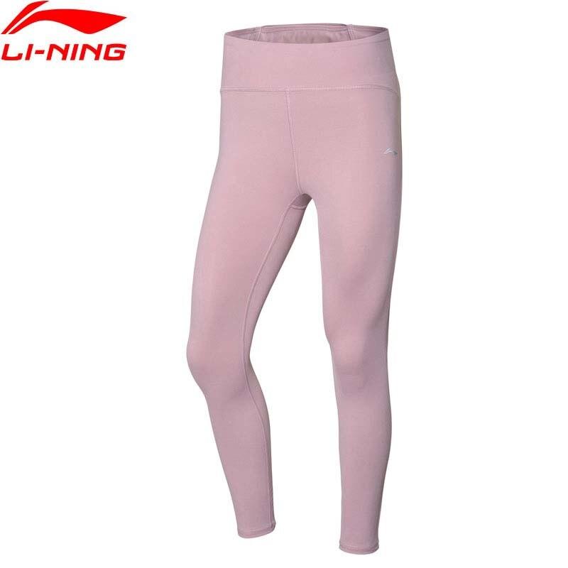 Li-Ning Women Training Layer Pants High-rise Pocket Tight Fit 71% Nylon 29% Spandex Li Ning LiNing Sports Tights AULQ012 WKY271