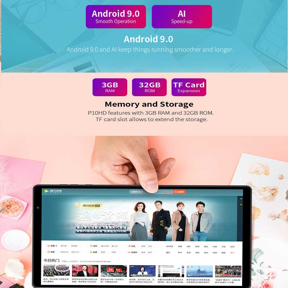 تابلت هاتف Teclast P10HD 4G ثماني النواة 10.1 بوصة IPS 1920 × 1200 3GB RAM 32GB ROM SC9863A نظام تحديد المواقع أندرويد 9.0 6000mAh الكمبيوتر اللوحي