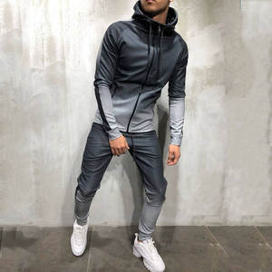 JAYCOSIN Men's Tracksuit 2019 Autumn Packwork Print Tracksuit Men Sportwear Hoodies Sweatshirt &Pants Sets Mens Clothing 19AUG1
