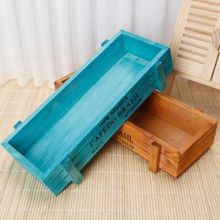 Garden Plant Fleshy Flower Pot Decorative Vintage Succulent Wooden Boxes Container Rectangular Table 1PC