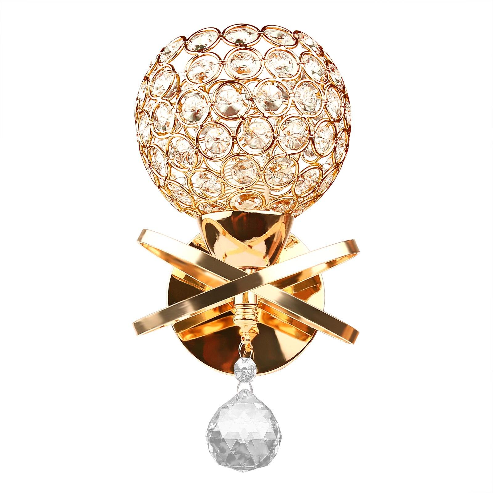E14 arandela de parede cristal luz simples e criativo quarto cabeceira lâmpada parede cristal luzes ouro/tira para casa ligting