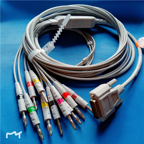 Cable Ekg-Machine EDAN Compatible Ce with SE-3/SE-601A One-Piece 10 Lead-ecg/Cable/And/.. title=