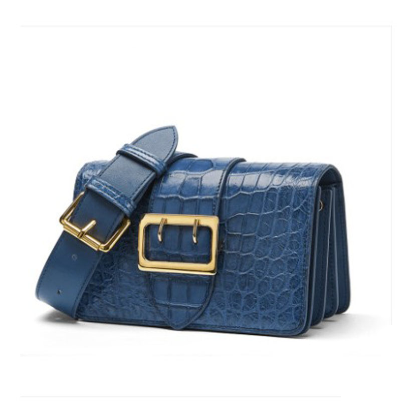 FENGE Alligator Leather Bag For Women New Style 2019 Dionysian Organ Bag For Women Is A One-shoulder-slung Small Square Bag Flap