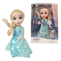35CM Disney Frozen Queen Elsa Princess Can Sing The Theme Song And Skirts Will Glow Doll Girl Birthday Present X4674