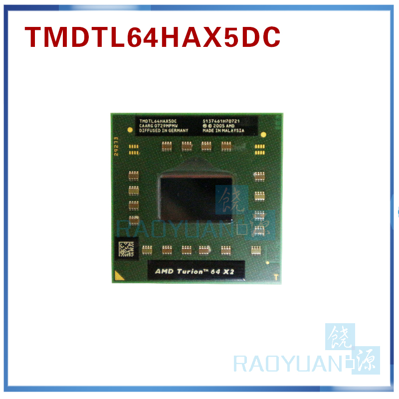 AMD Turion Laptop Processor /dual-Core S1G1 64x2 Tl-64-Tmdtl64hax5dm 64-Cpu 64-Cpu