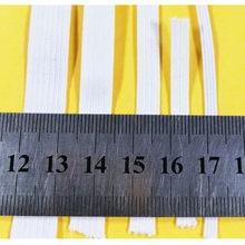 10 yards White Flat Elastic Cord band,Elastic band Stretch Elastic Rope Nylon rubber band, elastic for sewing