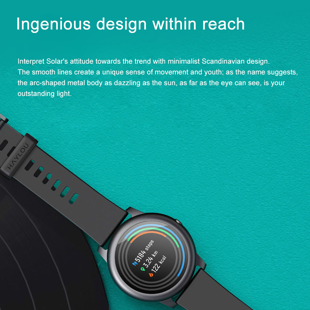 2020 Original Xiaomi Haylou Solar Smart Watch Sport Fashion Bracelet Heart Rate Sleep Monitor Fitness Tracker For iOS Android 5