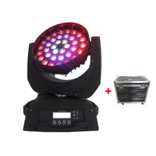 4pcs + Flycase Ring Control Lyre Led Moving Head Wash Zoom 36 x 10w RGBW 4in1 Zoom Moving Head Light For Dj Disco Party Concert(China)