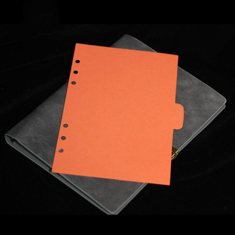 5 шт./компл. связующего разделители a6 при условии индексный разделитель для тетрадь пополнения документы для планировщик канцелярские принадлежности канцелярские 6 отверстий