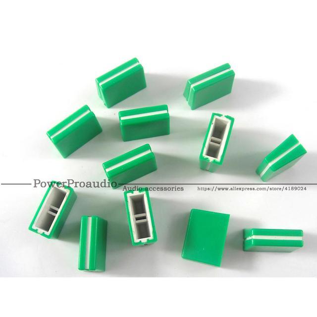 21pcs/lot Channel Crossfader potentiometer Fader Cap Knob For PIONEER DJM-250 350 400 600 700 800 Mixer green color