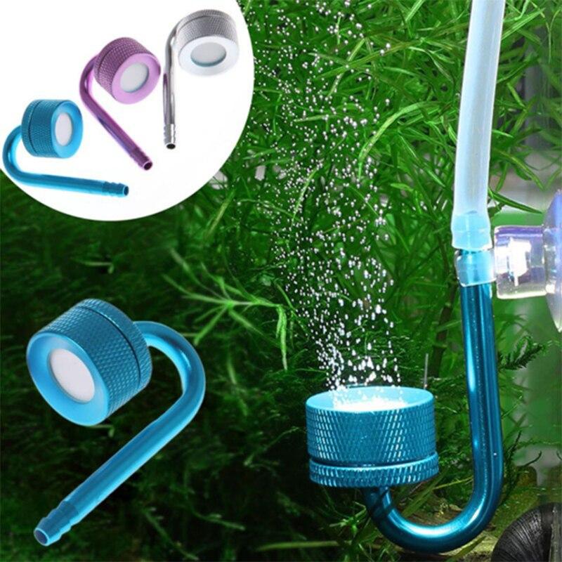 Aquarium Aluminium alloy CO2 Diffuser Reactor Non-slip Easy to clean up Carbon dioxide atomizer for aquatic plants co2 aquarium