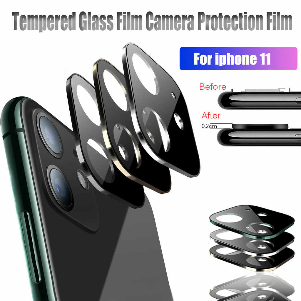 2019 New Case protector Metal Tempered Glass Screen Rear Camera Lens Protector For iPhone 11 Back Camera PP3