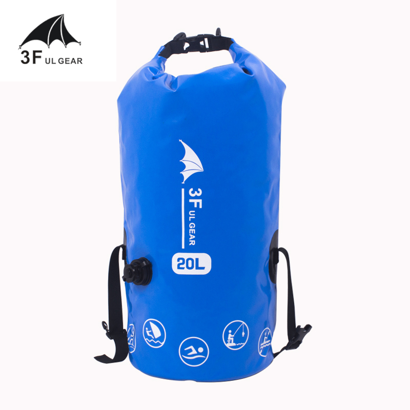 3F UL Gear 5L 10L 20L Waterproof Dry Bag Pack Sack For Swimming Rafting Kayaking River Trekking Floating Sailing Canoing Boating