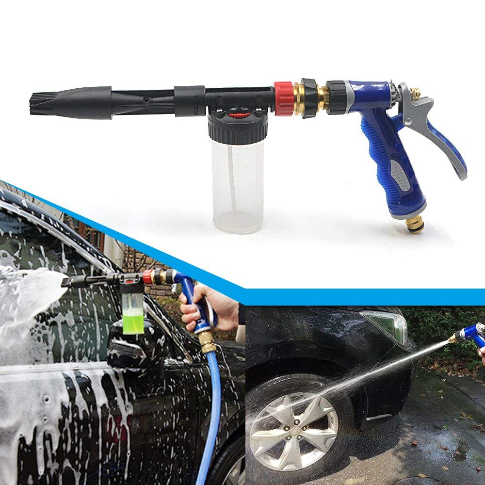 2in1 Adjustable Car Cleaning Foam Washing Gun Sprayer Washer High Pressure Snow Foamer Pro Sprayer Home Garden Watering Device