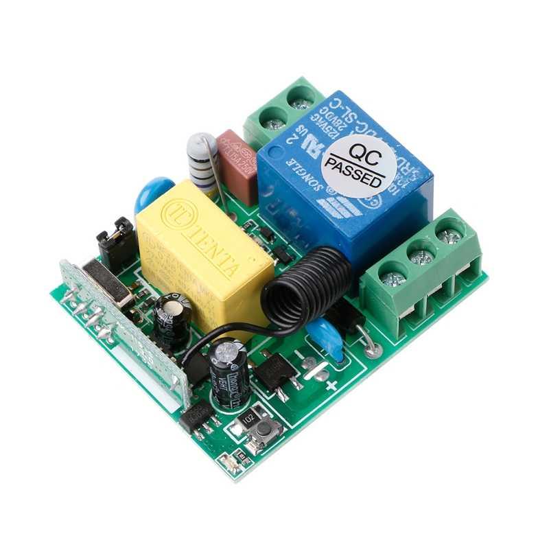 محول تحكم عن بعد لاسلكي 220 فولت 10A 1CH RF 433 ميجا هرتز جهاز استقبال + عدة إرسال دروبشيب
