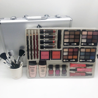 Professional Makeup Set Matte Shimmer Eyeshadow Palette Long Lasting Waterproof Make Up Kit with tools aluminum box