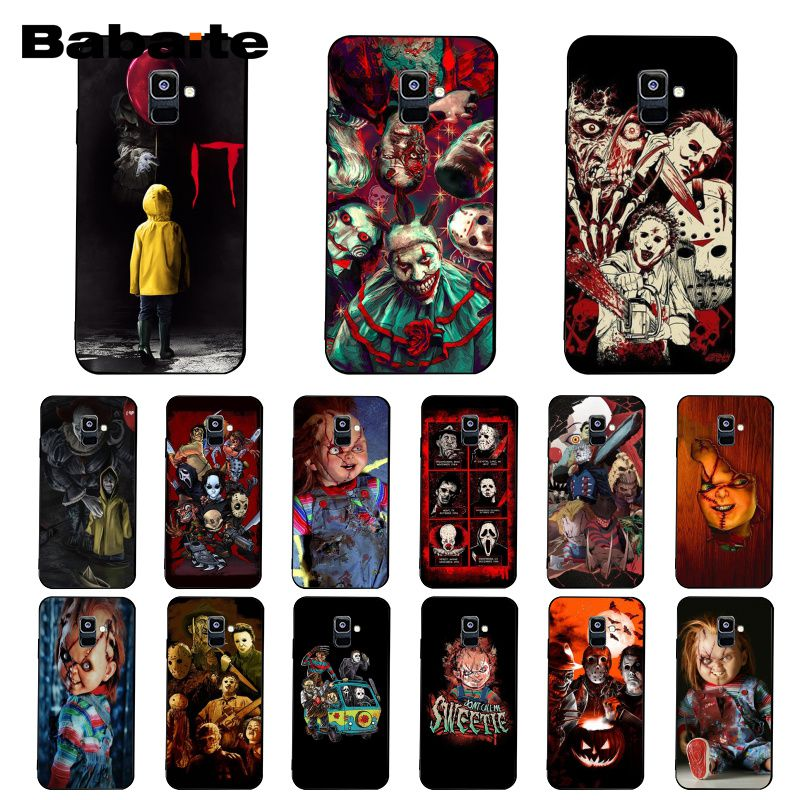 Babaite Film film Horror icon CHURSE VON CHUCKY CHILDS Telefon Fall Für <font><b>Samsung</b></font> <font><b>Galaxy</b></font> A7 2018 A50 A70 A8 A3 a6 A6Plus A8Plus A9 image
