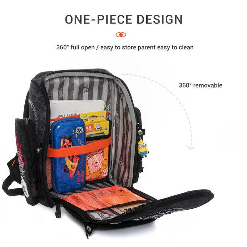 Delune/Новинка; модные детские школьные сумки с рисунком кошек для мальчиков и девочек; 3D ортопедический рюкзак для детей 1-3 класса; школьный рюкзак; Mochila Infantil