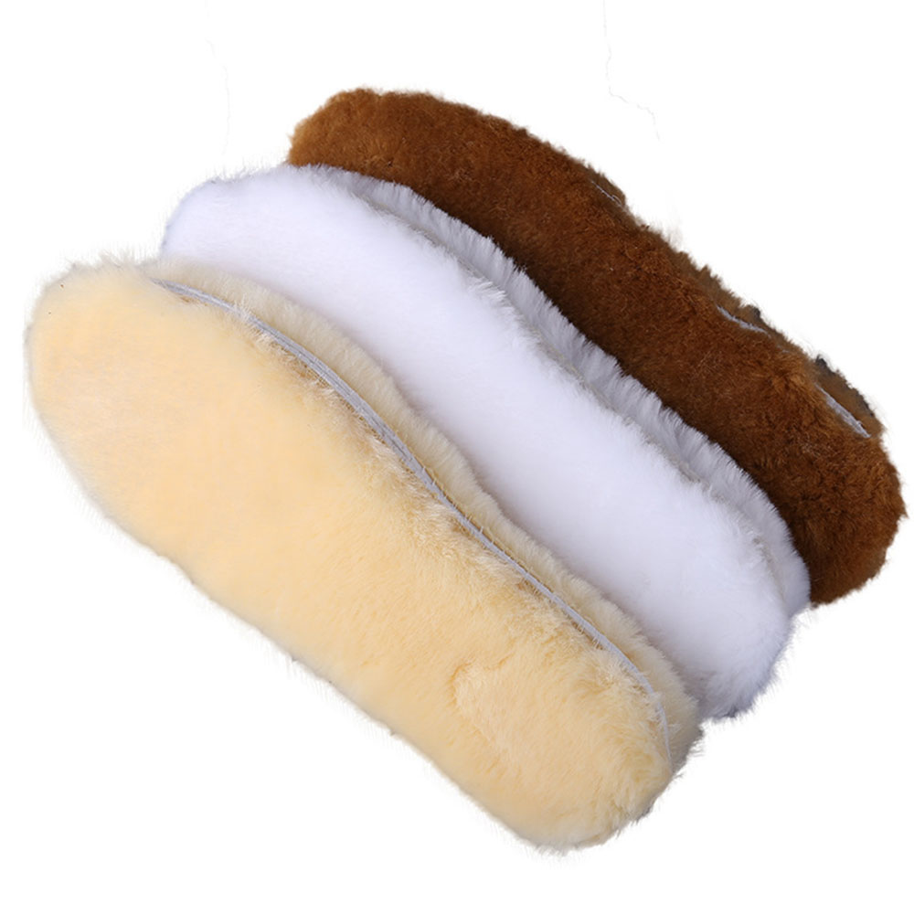2020 Hot Warm Heated Insoles Soles For Shoes Winter Thick Pad Warm Insoles Imitation Wool Breathable Snow Boots Fur Insoles Pad