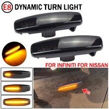 2pcs Dynamic Led Side Marker Turn Signal Light Sequential Blinker Lamp For Nissan Murano, PNZ51, TNZ51, Z51, Z51R, Z51Z