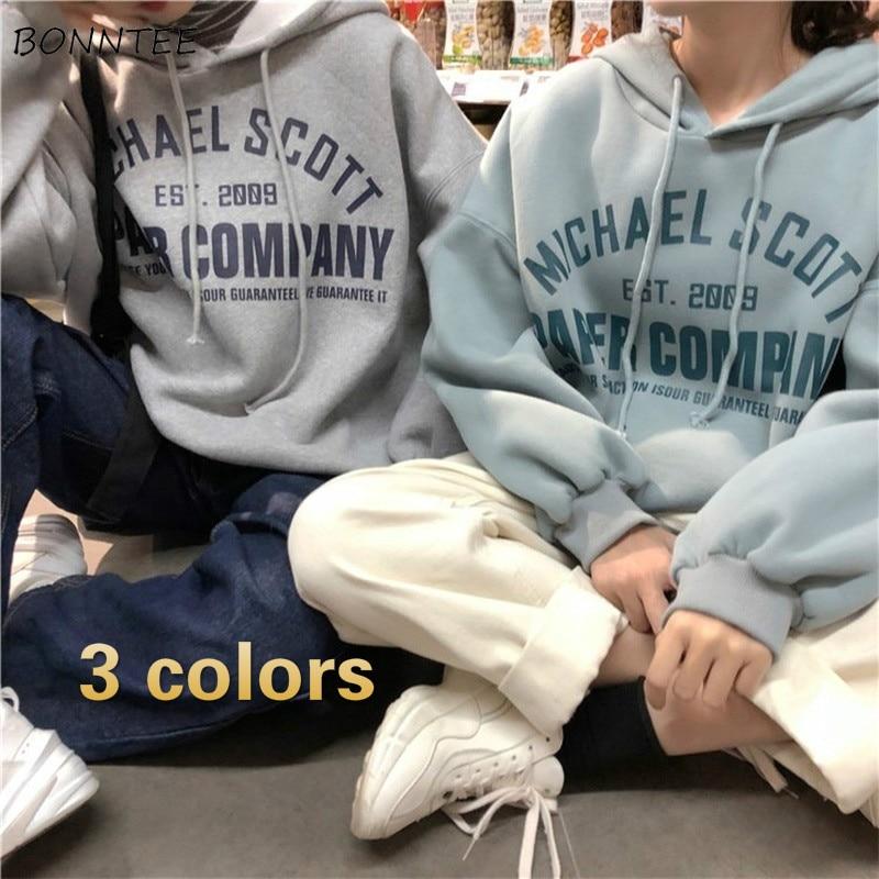 Hoodies Women BF Loose 2XL Streetwear Thickening Warm Winter Velvet Womens Unisex Pullover Fashion Korean Style Harajuku Ulzzang