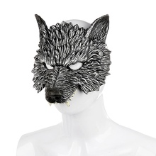 Halloween Realistic Wolf Cosplay Mask Masquerade Costume Carnival Accessories 3D Animal Terrible For Adult  UnisexCM