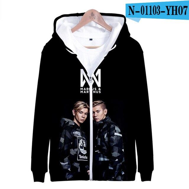 3 To 14 Years Kids Hoodie Marcus and Martinus 3D Hoodies Sweatshirt Boys Girls Fashion Harajuku Jacket Coat Children Clothes 7
