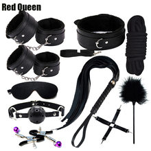 Fetish BDSM Sex Bondage Restraint Kit Games Erotic Accessories For Couples Handcuffs Mask Rope Erotic Toys Sex Products(China)